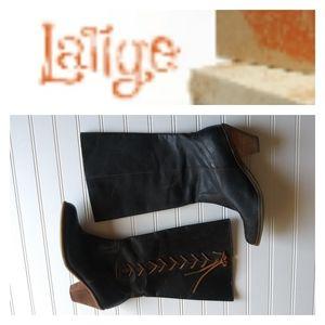 Latigo Blue Leather Duke Boots